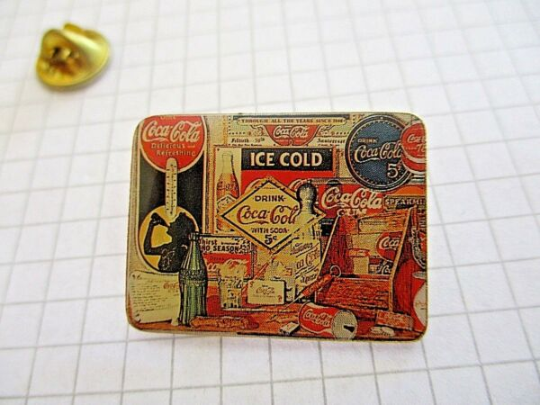 COCA COLA ADVERTISING PIN BADGE ICE COLD COCA VINTAGE PINS us3
