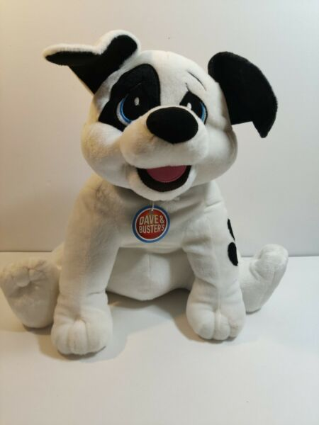 Toy Factory Dave and Busters Black and White Hound Dog look 16 inch tall $21.00