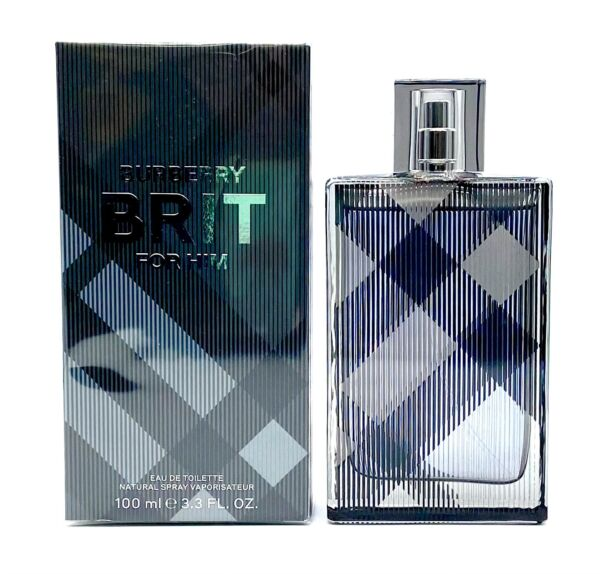 Burberry Brit by Burberry for Him 3.3 oz EDT Spray NEW PACKAGING AUTHENTIC NIB $31.95