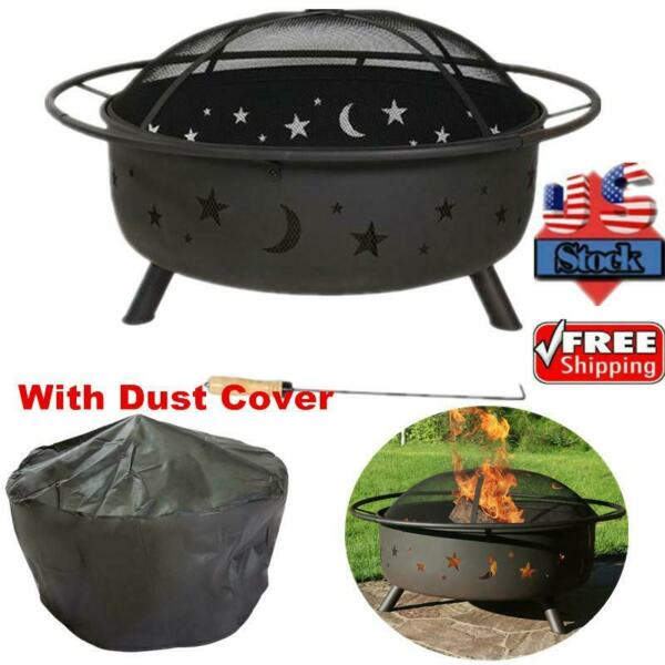 30quot; Outdoor Fire Pit Backyard Steel Fireplace Wood Burning Heater Bowl Stove US