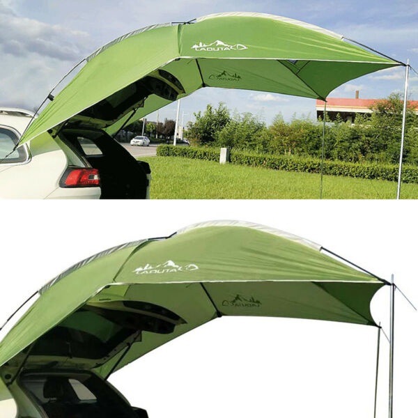 2.8*1.9mCar Tent Awning Rooftop SUV Truck Camping Travel Shelter Sunshade Canopy $76.99