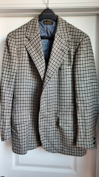 Southwick Sport Coat 42R INCREDIBLE 3 2 Roll Houndstooth Multi Color EUC $49.00