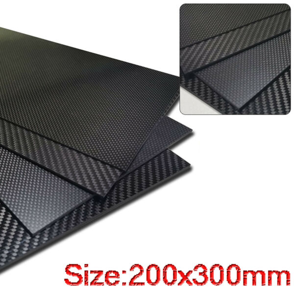200x300mm 3K Pure Carbon Fiber Sheets 1 6mm thick Composite Panel Board Material $30.79