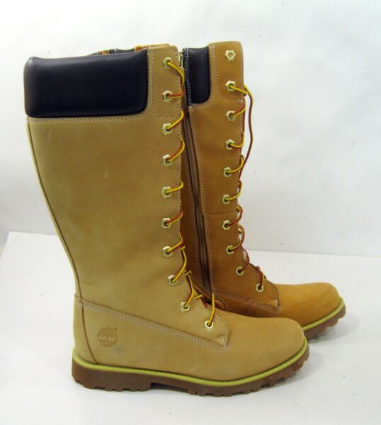 83980 new Timberland Winter Wheat Leather KNEE Boots US WOMEN Size 5.5 $45.57