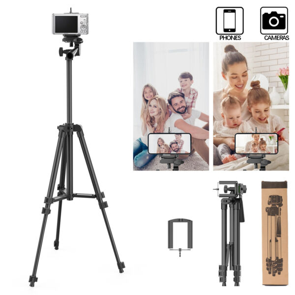 Adjustable Tripod Portable Stand Mount For Camera iPhone 12 Pro Universal Phone $12.99