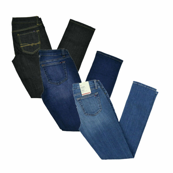 Tommy Hilfiger Womens Jeans Straight Fit Denim Pants Casual Bottoms 0 2 10 New $32.49