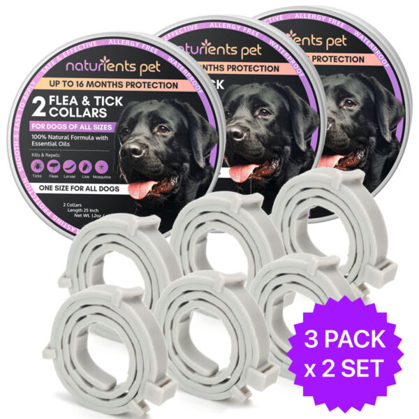 Cheaper than Seresto Dog Flea and Tick Collar All Size Dogs 2 SET x 3 PACKS $42.95