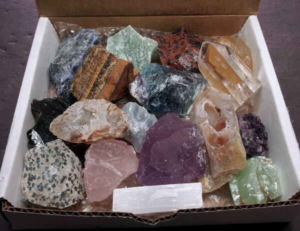 Crafters Collection Small Stones 1 Lb Mix Natural Gems Crystals Minerals $24.95