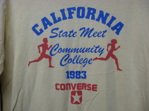 Vintage Screen Stars 1983 California COMMUNITY COLLEGE CONVERSE Cross Country XL