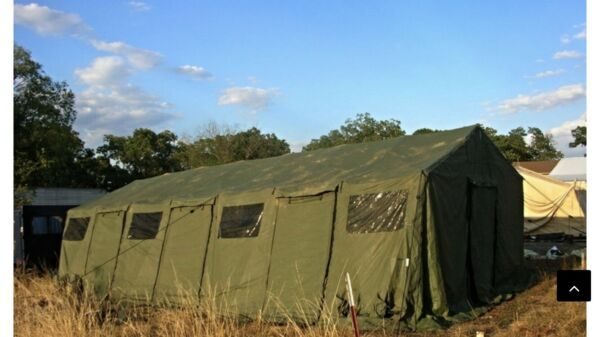 MILITARY TENT BASE X 307 GREEN EASY UP 18#x27; x35