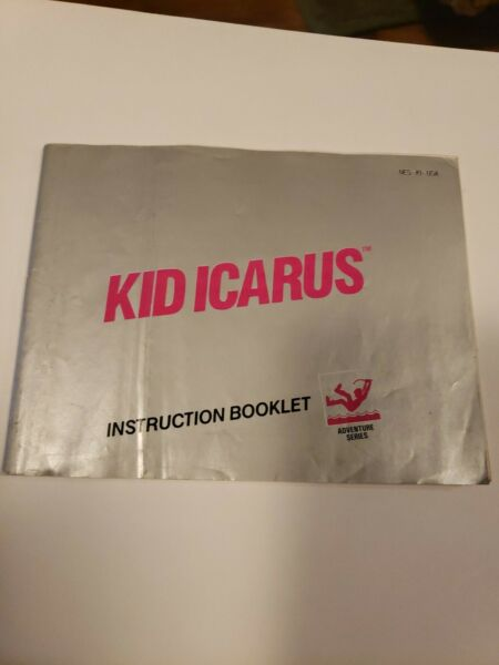 Kid Icarus Manual Intruction Booklet Nes Nintendo Circle seal