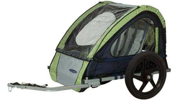 Instep Bike Trailer for Kids Single and Double Seat Single Seat Green Grey $129.99