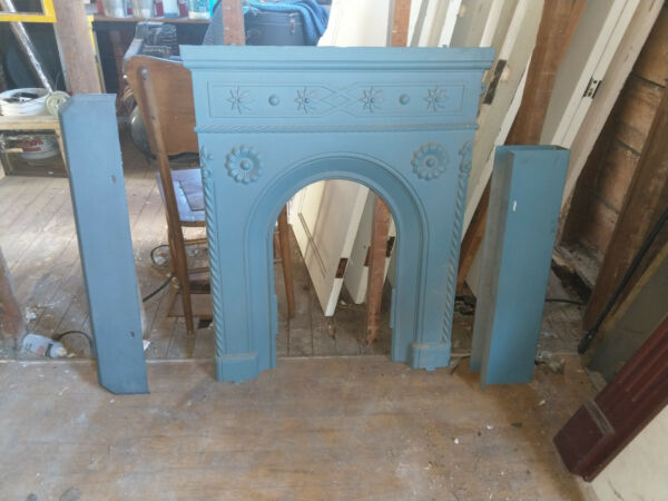 Authentic Antique 1860#x27;s Fireplace Mantel Surround for Small Fireplace