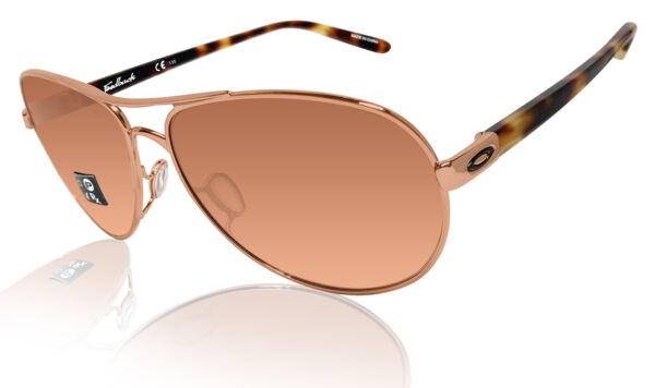 Oakley Feedback Rose Gold VR Brown Lens authentic sunglasses 0OO4079 $104.91