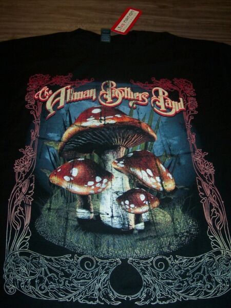 VINTAGE STYLE THE ALLMAN BROTHERS BAND Mushrooms T Shirt MENS LARGE NEW w TAG