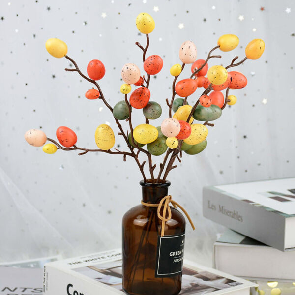 Easter Egg Tree Decor Creative Branch With Painting Eggs Party Supplies