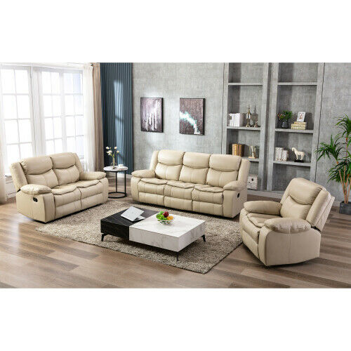 Leather Recliner Sofa Set 123 Seater Couch Loveseat Living Room Furniture $769.00
