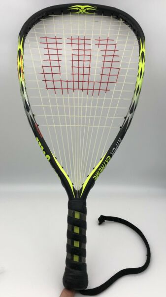 Wilson Hyper Extreme Racquetball Racket ISO ZORB Grommets Carbon Construction $29.95