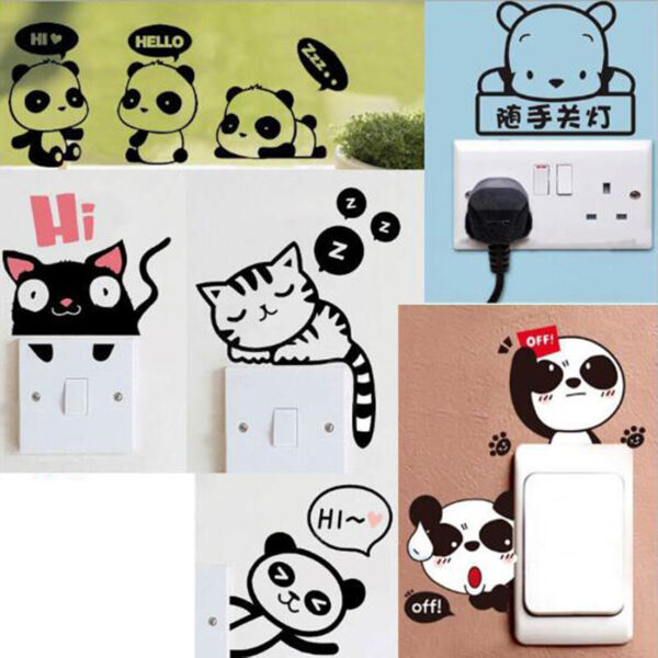 Removable Funny Cat Switch Sticker Black Art Decal Wall Poster Vinyl Home Decor C $0.99