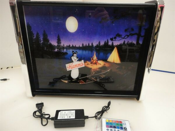 Hamms Beer Bear Canoe Scene LED Display light sign box
