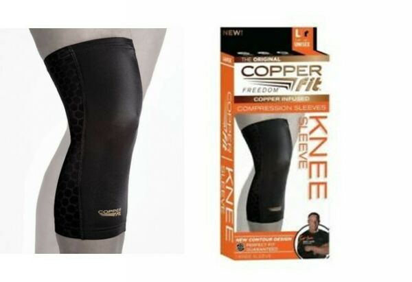 Copper Fit Knee Sleeve LARGE Compression Sleeve
