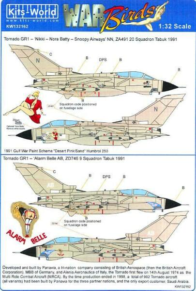 Kits World Decals 1 32 PANAVIA TORNADO GR4 Nikki Nora Batty amp; Alarm Belle