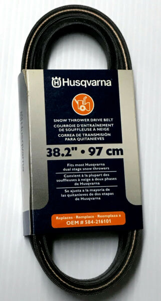 New Genuine Husqvarna Snow Thrower Drive Belt 584 216101 OEM Replacement 38.2quot;