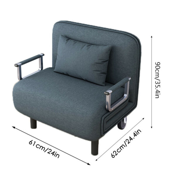 Convertible Sofa Bed Folding Arm Chair Sleeper Leisure Recliner Lounge Couch USA $191.57