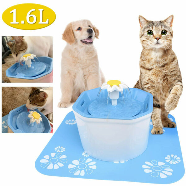 Pet Water Fountain Electric Water Dispenser For Cat Dog Automatic Three Modes RE $16.95