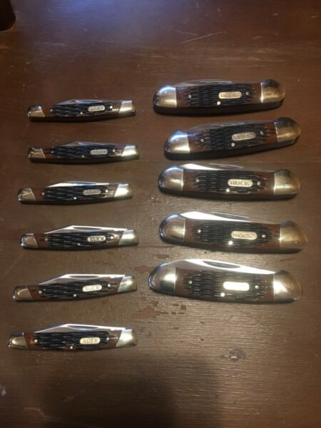 BUCK POCKET KNIFE LOT 11 KNIVES INCLUDED IN THE LOT