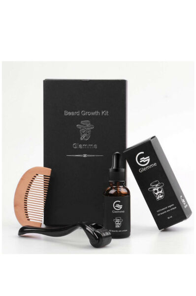 Beard Growth Kit Derma Roller With Beard Growth Oil Serum For Men OPEN BOX READ