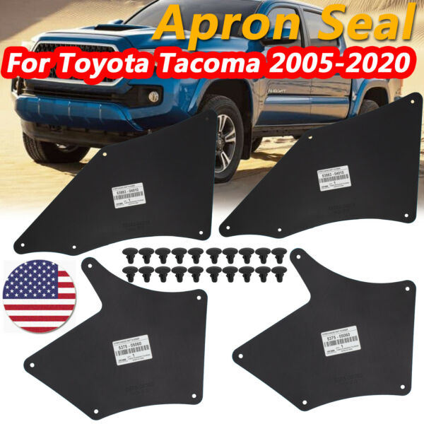 4 For Toyota Tacoma 05 20 Inner Fender Shield Panel Control Arm Dust Seals Liner $18.99