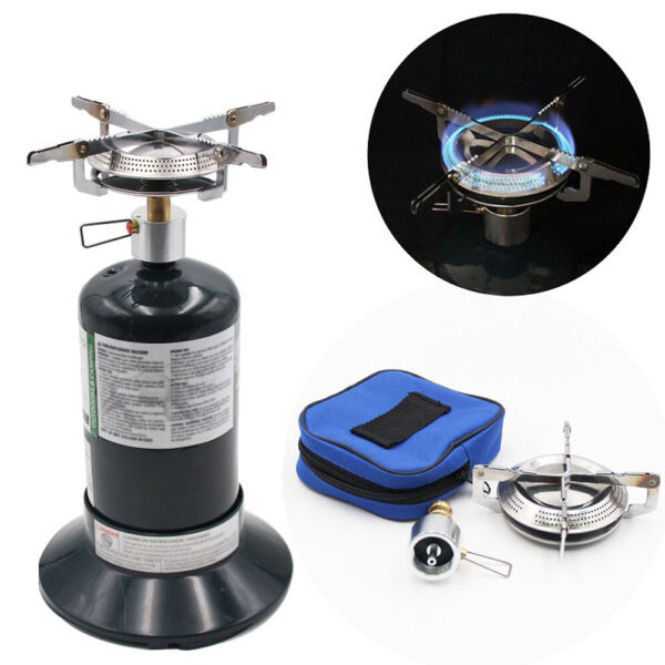 Portable Camping Propane Gas Stove Mini Picnic Cooking Burner BBQ Grill Outdoor
