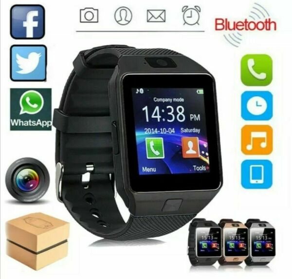 Bluetooth Smart Watch w Camera Waterproof Phone Mate for Android Samsung iPhone $11.99