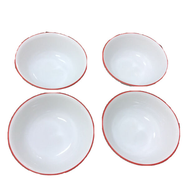 """Corelle Corning Hot Dots Set Of 4 Soup amp; Cereal Bowls 6.25"""" USA"""