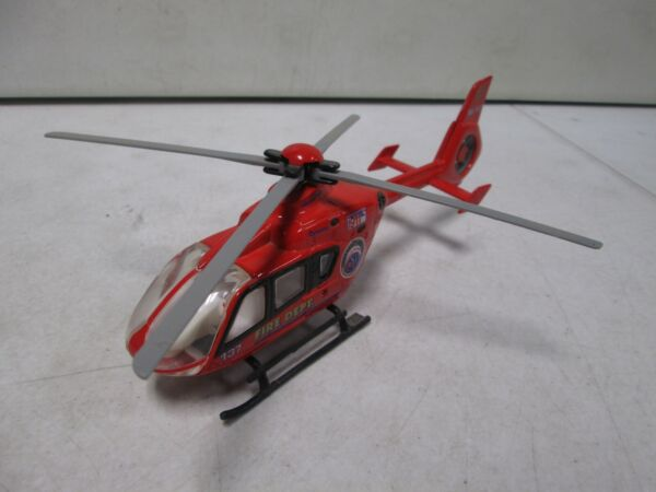 Die Cast Fire Department Helicopter 9 Inches Long