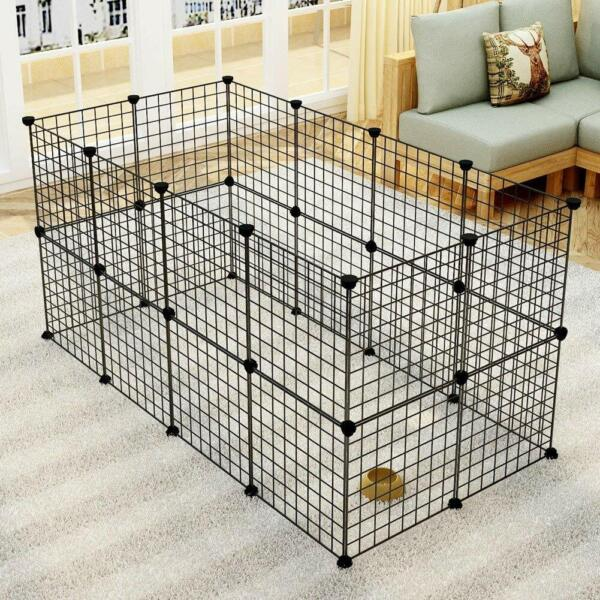 Pet Playpen Cage Indoor Portable Metal Wire Yard Fence For Small Animals
