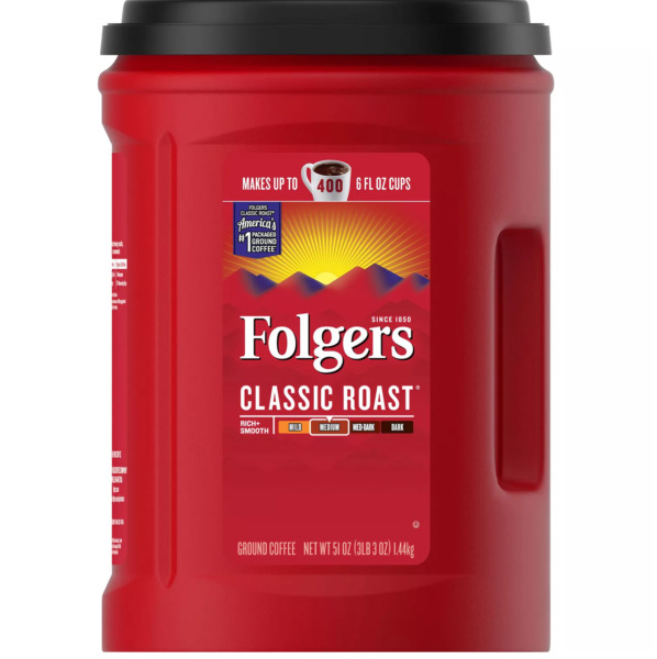 Folgers Classic Roast Ground Coffee 51 oz. FREE SHIPPING