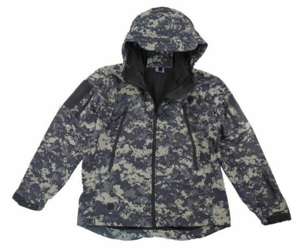 Tactical Scorpion Soft Shell Mens Military Waterproof Hooded ACU Digital Jacket