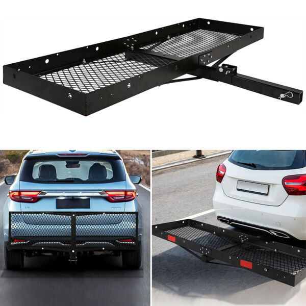 Lonabr 500 LBS Hitch Rack Folding Cargo Carrier Mount Fit 2quot; Receiver Luggage $105.99