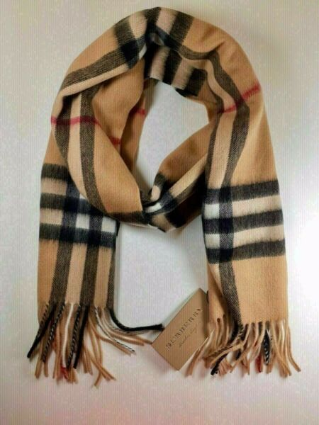 BRAND NEW WITH TAGS BURBERRY Scarf Check Roll Tube Box BAG 100% Authentic $130.00