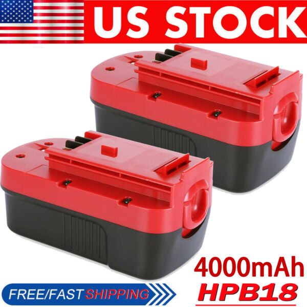 2Pack 18V Battery for Black amp; Decker Firestorm HPB18 HPB18 OPE2 244760 00 FS18BX