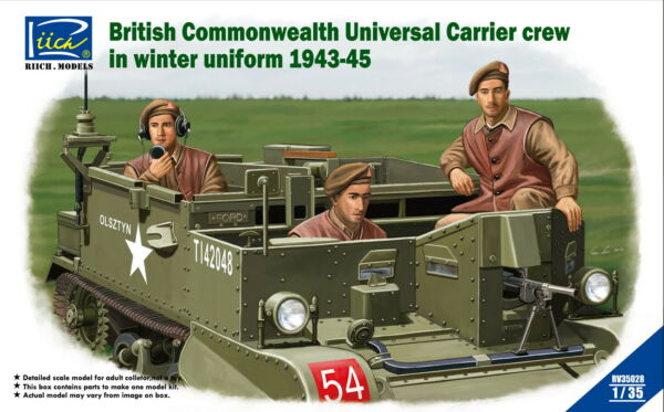 Riich Models 1 35 Scale British Commonwealth Universal Carrier Crew 1943 1945 $14.95