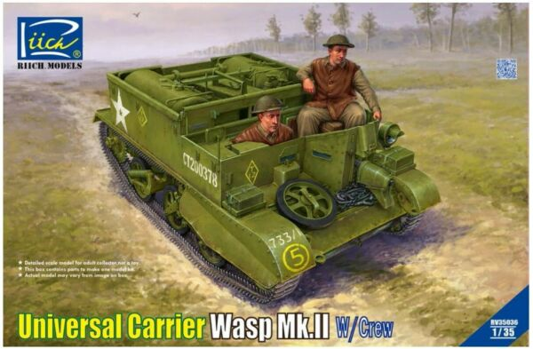 Riich Models 1 35 Scale Universal Carrier Wasp Mk.II with crew $66.95
