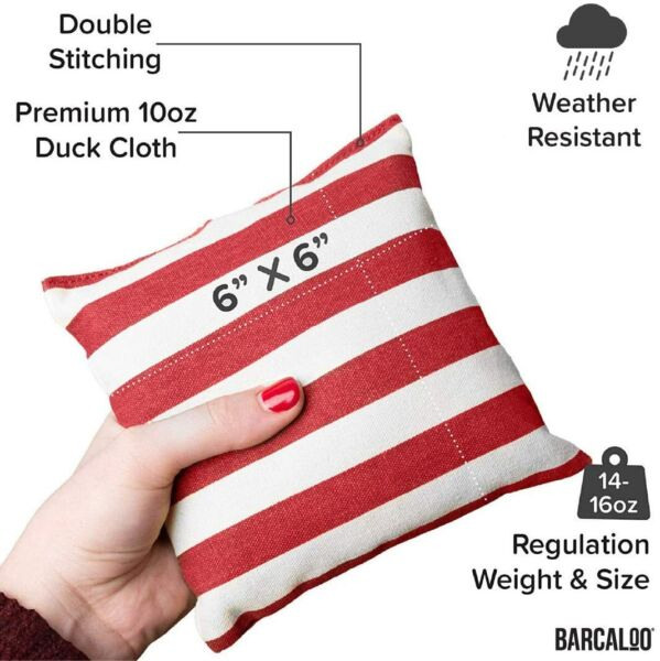 All Weather Cornhole Bean Bags Set of 8 Bright American Flag $18.99