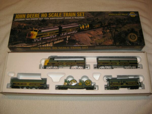 JOHN DEERE ATHEARN HO SCALE ELECTRIC TRAIN SET SEALED IN BOX 1998 TWO quot;Dquot; #2