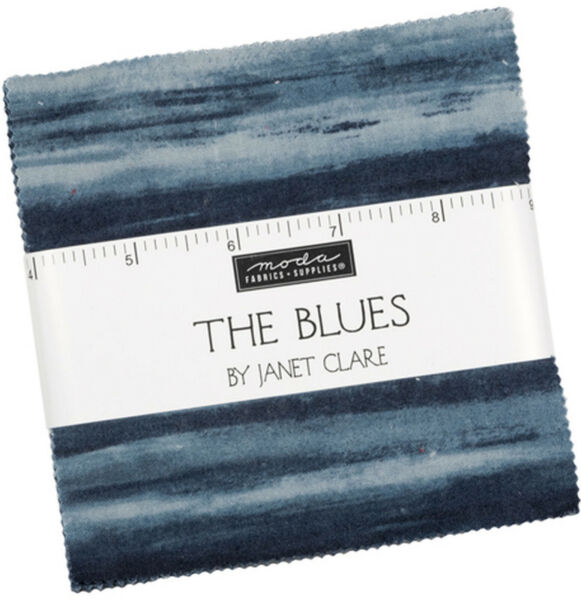 The Blues Moda Charm Pack 42 100% Cotton 5quot; Precut Fabric Quilt Squares