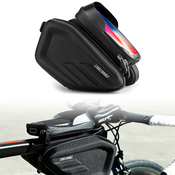 6.2quot; MTB Front Top Tube Bicycle Bags Touch Screen Frame Bag Waterproof Bike $27.20