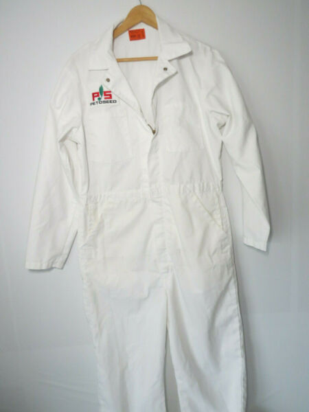 AMBASSADOR WHITE BOILER SUIT coveralls overalls mechanic uniform jumpsuit 40 R $40.00