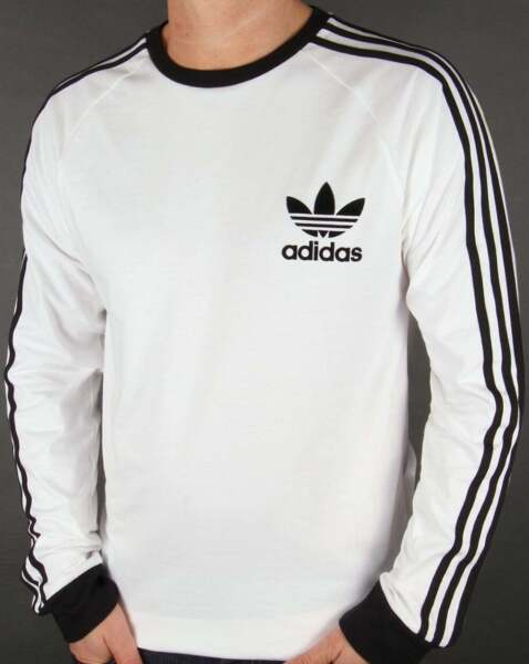 Adidas Men#x27;s Long Sleeve Trefoil Logo Graphic T Shirt